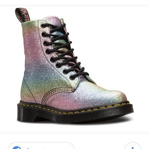Doc martens Pascal rainbow glitter boots